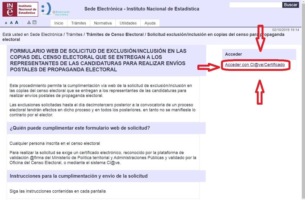 SOLICITUD DE EXCLUSIÓN DEL CENSO ELECTORAL